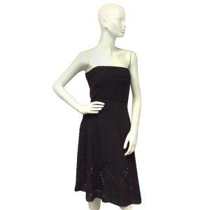 Ann Taylor Strapless Brown Cocktail Dress Size S